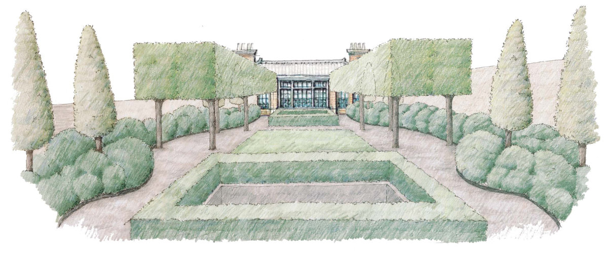 Landscape Architecture Perspective Drawings quincy hammond landscape architecture